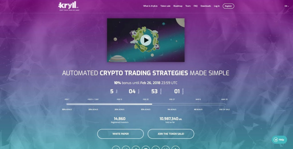 kryll trading robot