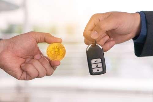 rent car with bitcoin