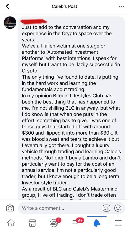 bitcoin lifestyles club testimonial