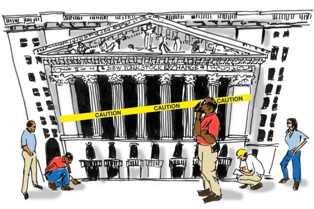 financial crisis stock exchange