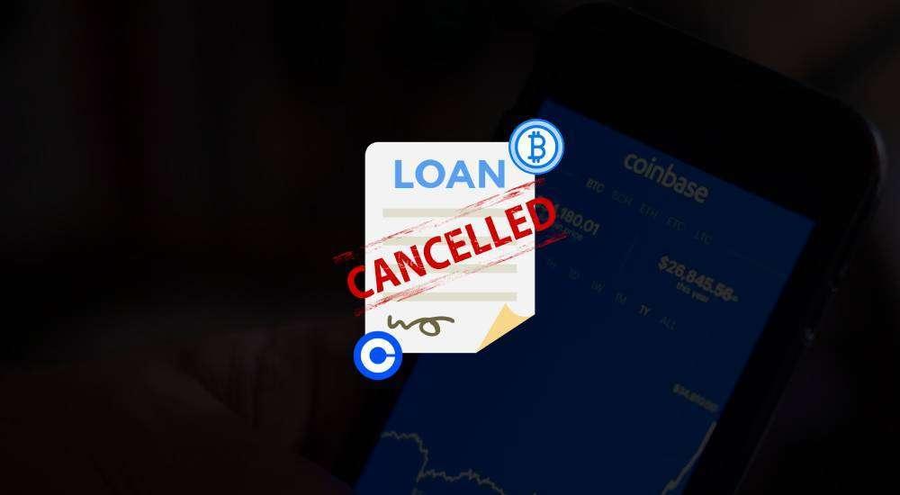 coinbase halts lending program